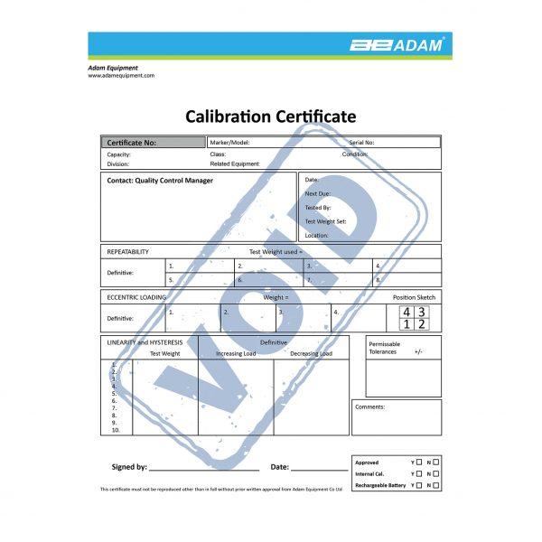 Certificado Calibração