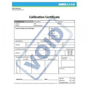 Certificado de calibração para AELP, PT, PTS