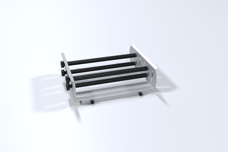 Plataforma para ampolas de decantação c/ 3 rolos